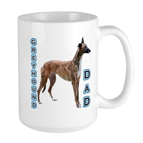 Greyhound Dad4 Large Mug
