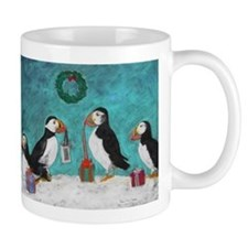 A Puffin Christmas Small Mug