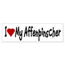 Love My Affenpinscher Bumper Stickers (Bumper)