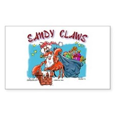 Sandy Claws Rectangle Decal