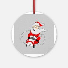 Driving Santa Ornament (Round)