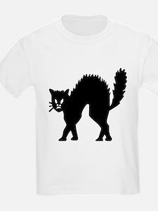 Vintage Black Halloween Kitty T-Shirt