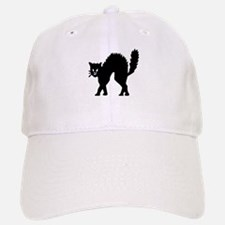 Vintage Black Halloween Kitty Baseball Baseball Cap