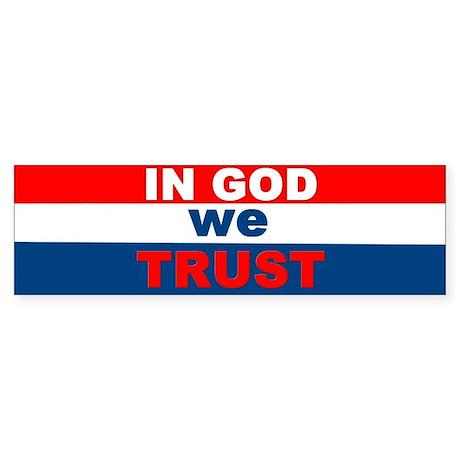 Bumper Sticker/In God we trust