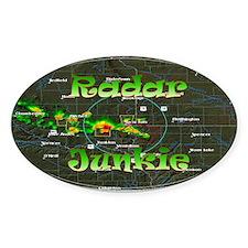 Radar Junkie Oval Decal