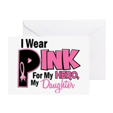 I Wear Pink for My Daughter 19 Greeting Card