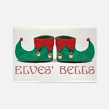 Elves' Bells Rectangle Magnet
