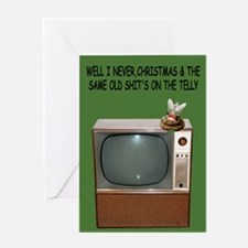 Humorous TV's shit Christmas Greeting Card
