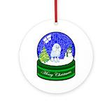 Poodle snow globe Ornaments