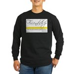 Emerson Quote - Friendship Long Sleeve Dark T-Shir
