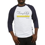 Emerson Quote - Friendship Baseball Jersey