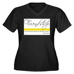 Emerson Quote - Friendship Women's Plus Size V-Nec