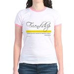 Emerson Quote - Friendship Jr. Ringer T-Shirt