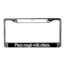Frighten License Plate Frame