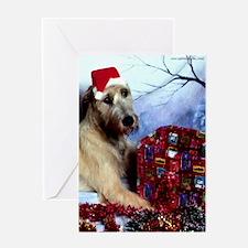 Irish Wolfhound Christmas Greeting Card DS#21v