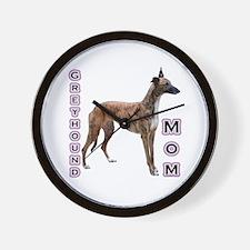 Greyhound Mom4 Wall Clock