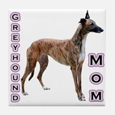 Greyhound Mom4 Tile Coaster