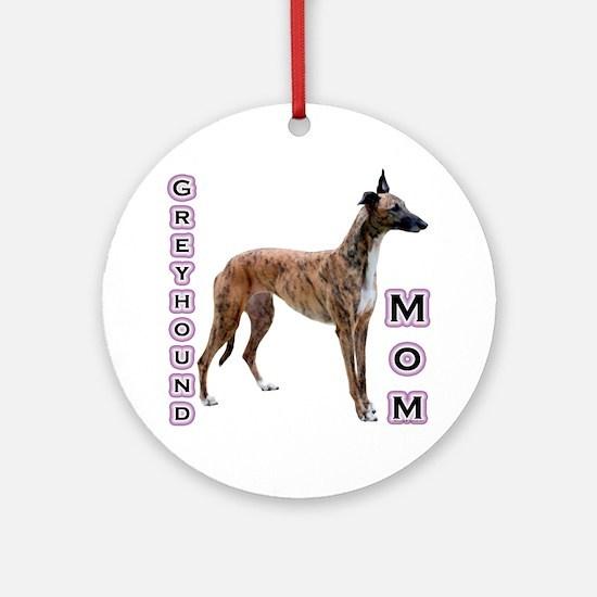 Greyhound Mom4 Ornament (Round)