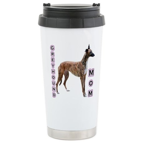 Greyhound Mom4 Stainless Steel Travel Mug