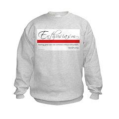 Emerson Quote: Enthusiasm Sweatshirt