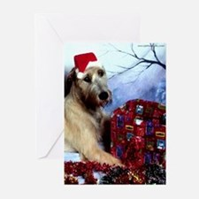 10-Irish Wolfhound Christmas Greeting Cards DS#21v