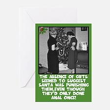 Funny anal sex slogan Xmas Greeting Cards (Pk of 1