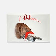 Greyhound I Believe Rectangle Magnet
