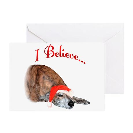 Greyhound I Believe Greeting Card
