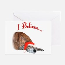 Greyhound I Believe Greeting Cards (Pk of 20)