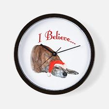 Greyhound I Believe Wall Clock