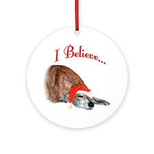 Greyhound I Believe Ornament (Round)