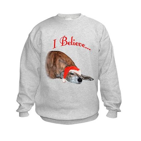 Greyhound I Believe Kids Sweatshirt