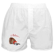 Greyhound I Believe Boxer Shorts