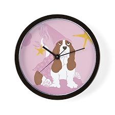Baby Basset Princess Wall Clock