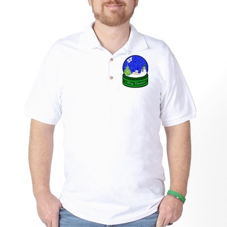 Snow Globe Yellow Lab Golf Shirt