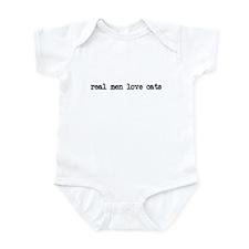 Real Men Love Cats Infant Bodysuit