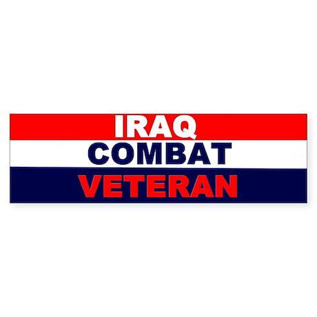 Bumper Sticker/IRAQ COMBAT VETERAN