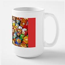 Matrushka Nesting Doll Army Large Holiday Mug