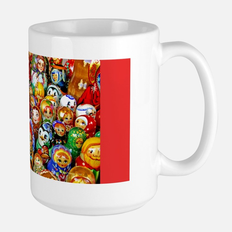 Matrushka Nesting Doll Army Large Holiday Mug