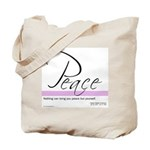 Emerson Quote on Peace Tote Bag