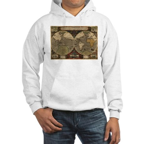 1595 Map of the Known World Hooded Sweatshirt