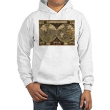 1595 Map of the Known World Hoodie