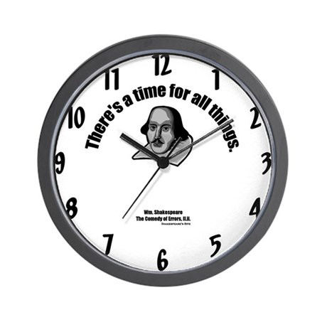 Time for All Things Wall Clock by shakespearebite