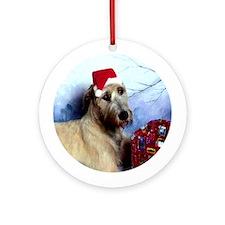 Irish Wolfhound Christmas Round OrnamentDS#20