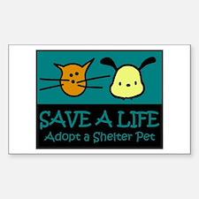 Save A Life Adopt a Pet Rectangle Bumper Stickers
