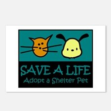 Save A Life Adopt a Pet Postcards (Package of 8)