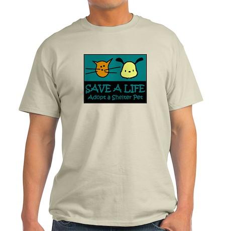 Save A Life Adopt a Pet Light T-Shirt