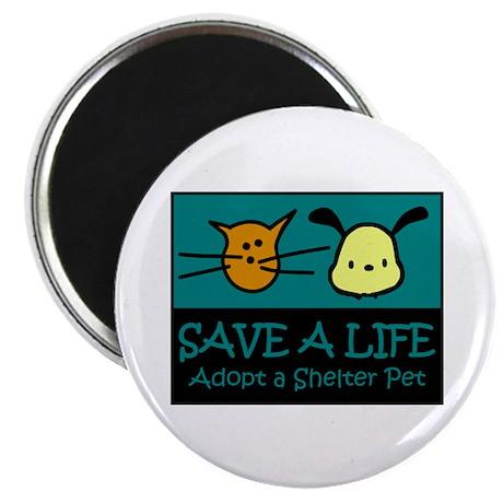 """Save A Life Adopt a Pet 2.25"""" Magnet (100 pac"""