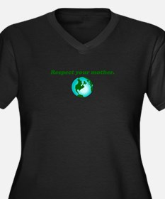 Respect Your Mother Earth Women's Plus Size V-Neck