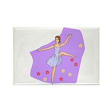 Girl Dancer Rectangle Magnet